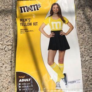 Yellow M&M's halloween costume from Spirit
